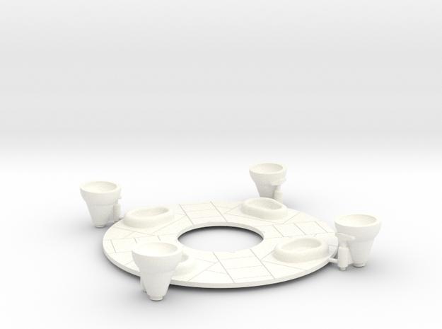 1:100 scale Saturn 1b bottom plate w/nozzles in White Processed Versatile Plastic