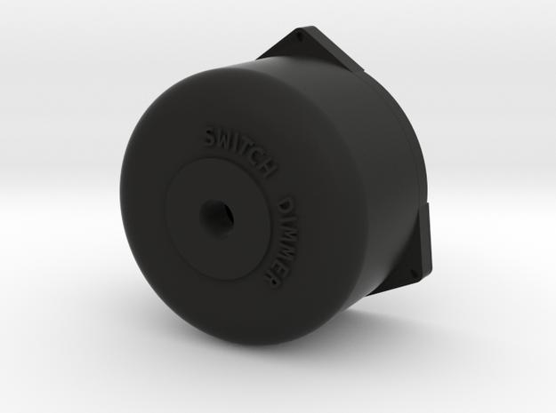 Dimmer Switch Short in Black Natural Versatile Plastic