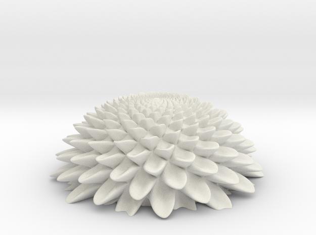 Bloom HemiSphere FxF Mat V1 2nd Non-quivering 25 in White Natural Versatile Plastic