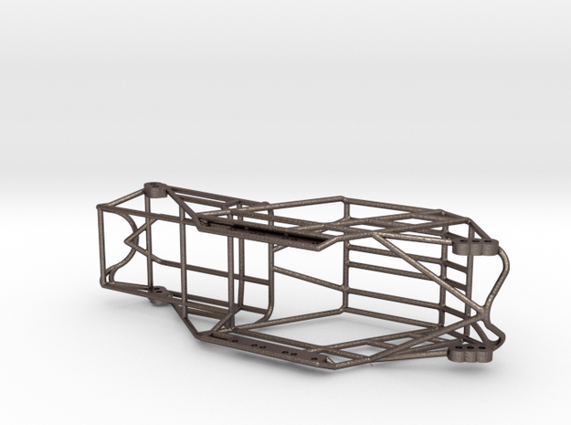 Fat Girl SCX24 Metal chassis in Polished Bronzed-Silver Steel