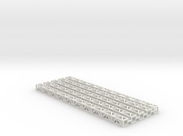 Zirkuszeltmast 100mm 5erSet - 1:120 - TT in White Natural Versatile Plastic