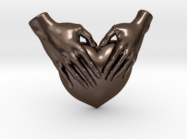 EmeDeÚ Necklace 3d printed Polished Bronze Steel