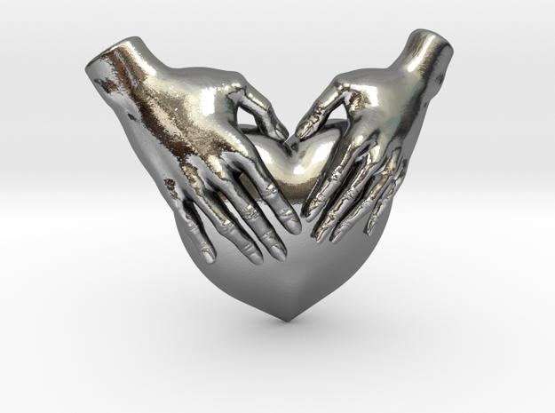 EmeDeÚ Necklace 3d printed Polished Silver