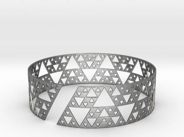 Sierpinski Bracelet in Polished Silver