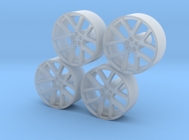 Front Wheels Viper 1-18 X4 in Smooth Fine Detail Plastic