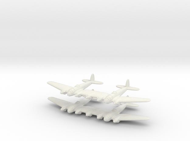 He-111Z Bomber= 1/700 (x2) in White Natural Versatile Plastic