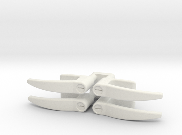 EC135 Door Handles 1/6 in White Natural Versatile Plastic