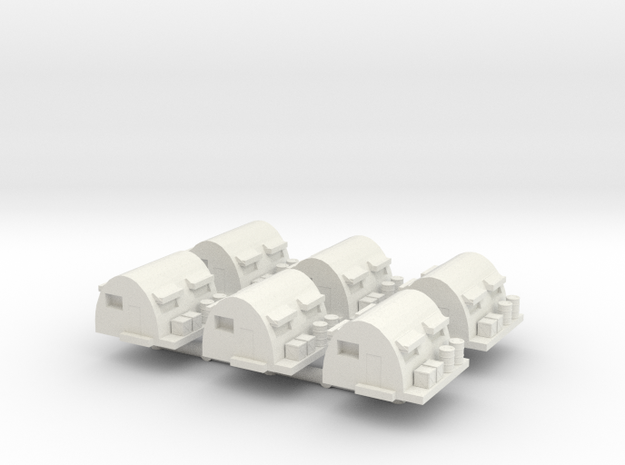 1/285 Supply Depot x6 in White Natural Versatile Plastic