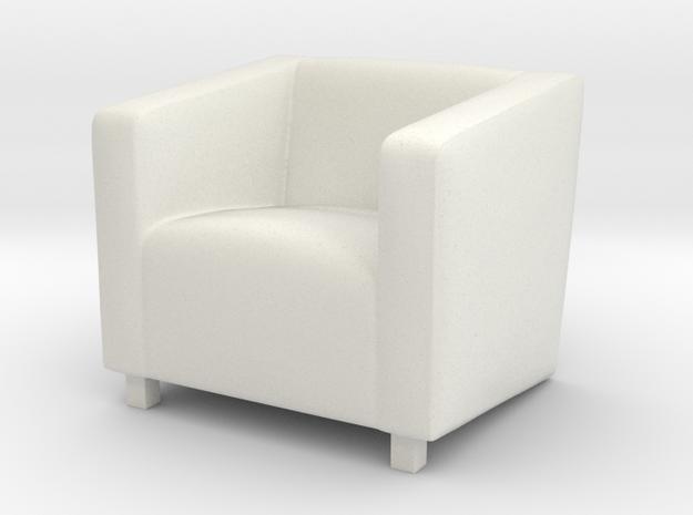 ArmChair 02. 1:24 Scale  in White Natural Versatile Plastic