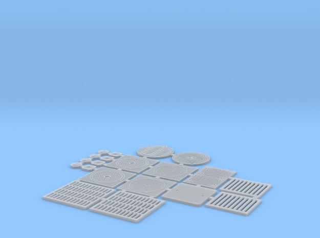OviMob02 - Sewer plates in Smooth Fine Detail Plastic