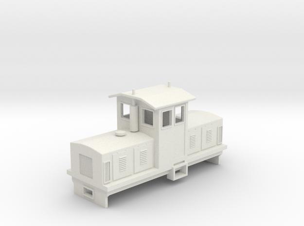 """HOn30 Centrecab Locomotive 2 (""""Joanna"""") in White Natural Versatile Plastic"""