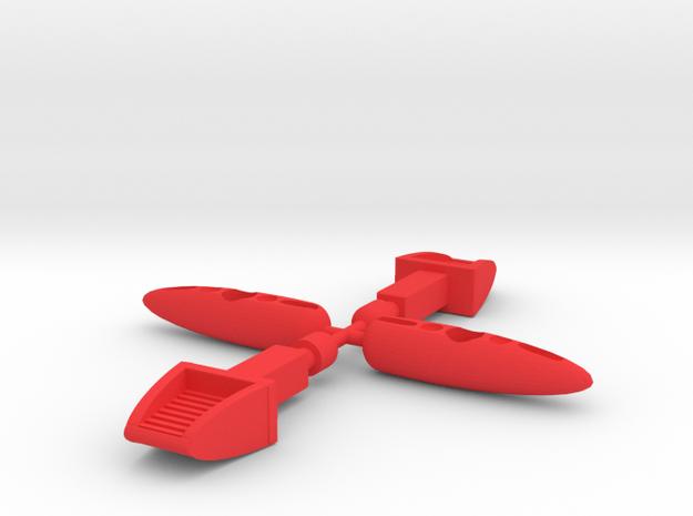 Saucer UFO Missiles in Red Processed Versatile Plastic