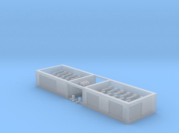 SPMT Hydraulikmodul 2erSet - 1:120 TT in Smooth Fine Detail Plastic