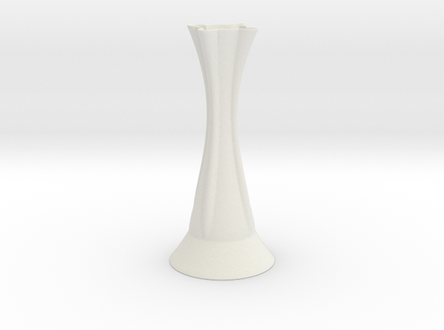 Vase 1808D in White Natural Versatile Plastic