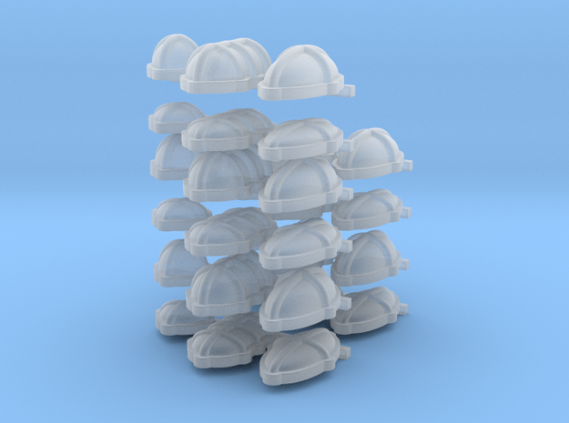 Set of Caged Lights for Sci-Fi Terrain and Models in Smoothest Fine Detail Plastic: Extra Small