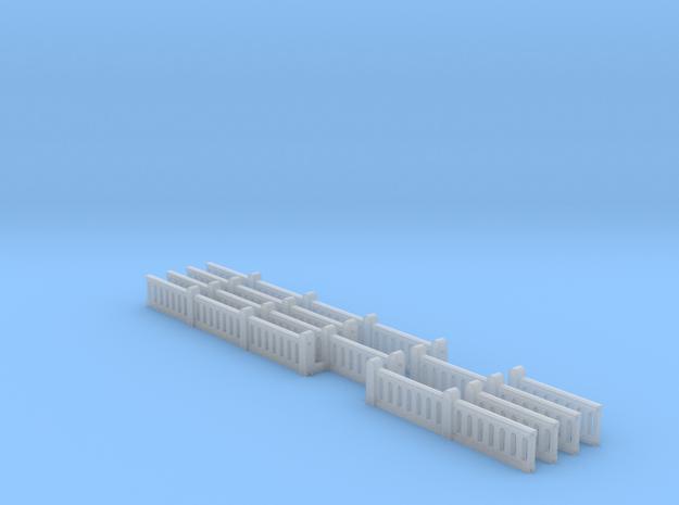 Concrete Art Deco Railing (N scale) in Smooth Fine Detail Plastic