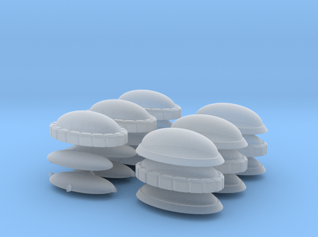 Set of Oval Gems for Terrain and Models in Smoothest Fine Detail Plastic: Extra Small