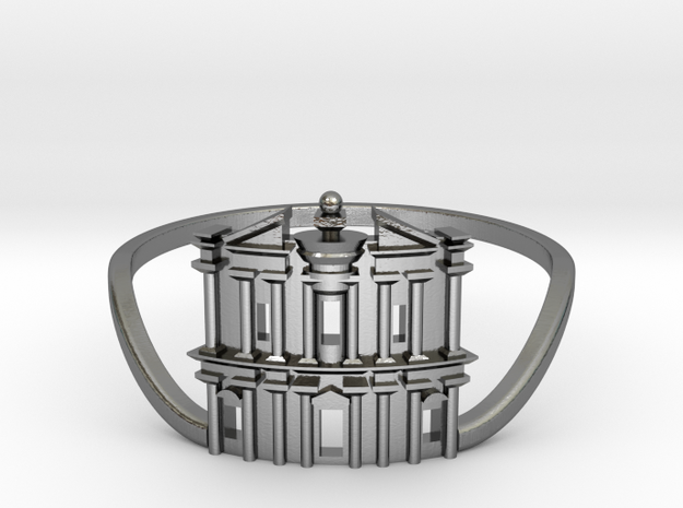 Petra Ring in Polished Silver: 6 / 51.5