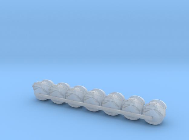 Beach Dog Walker Bucketheads (x7) in Smoothest Fine Detail Plastic