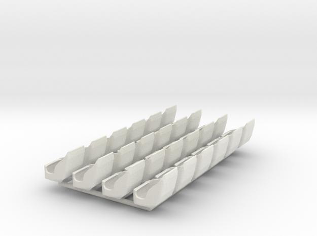 Gondelsatz Hexentanz für 1:87 (H0 scale) in White Natural Versatile Plastic