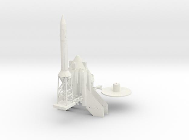 1:100 scale Little Joe II components in White Natural Versatile Plastic