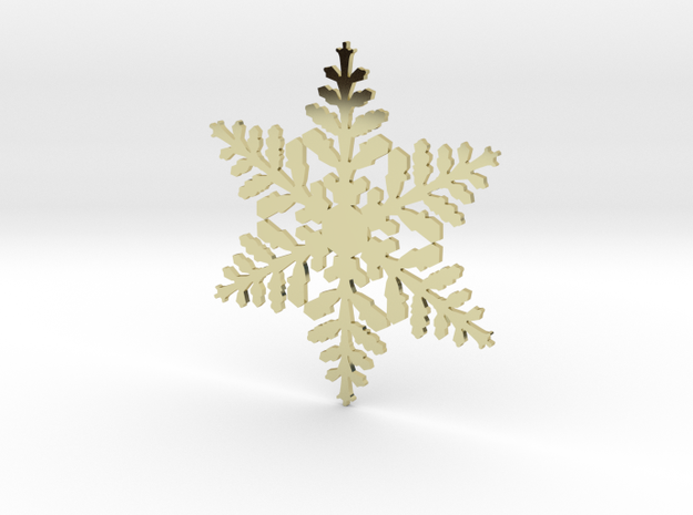 snowflake in 18k Gold Plated Brass
