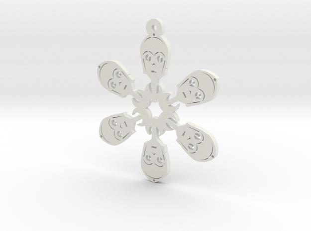 Nerdy Snowflakes - C-3PO - 3in in White Natural Versatile Plastic