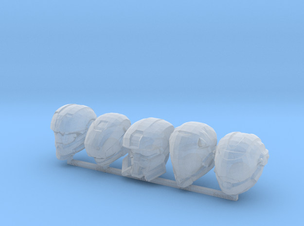 MB_MCX Halo Reach Helmets in Smooth Fine Detail Plastic
