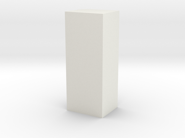 CNR Coal Bunker in White Natural Versatile Plastic
