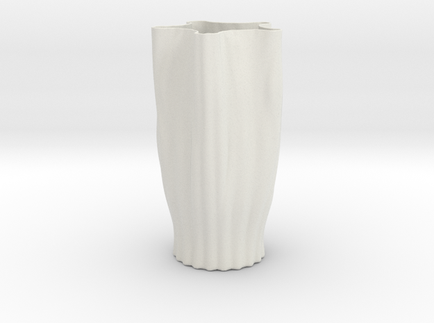 Vase 18 Redux in White Natural Versatile Plastic
