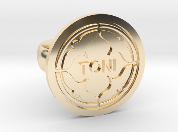 BirdRing for Toni in 14K Yellow Gold