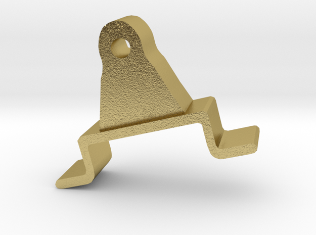 Brake Appliance: bracket (test/brass) in Natural Brass