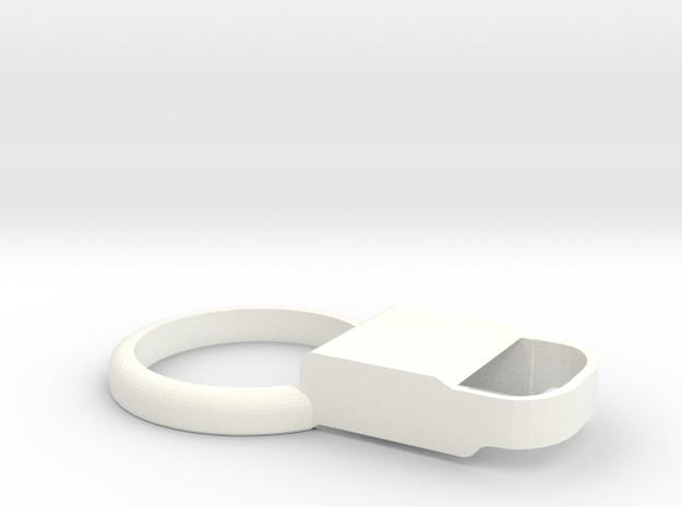 Kiwi 2 – Shell for MiaoMiao2 (Libre): NO Armband!  in White Processed Versatile Plastic