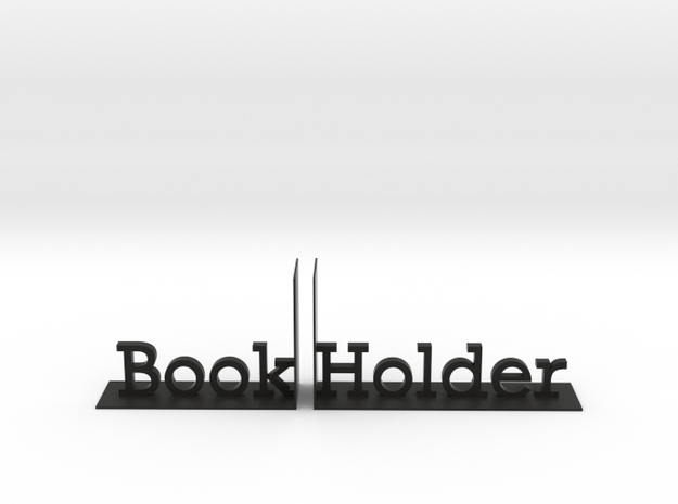Book Holder in Black Natural Versatile Plastic