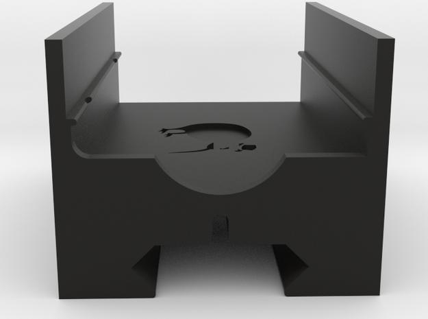 Mobius Maxi Picatinny Mount in Black Natural Versatile Plastic