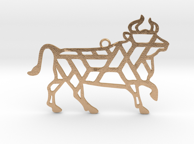 Year Of The Ox Charm in Natural Bronze