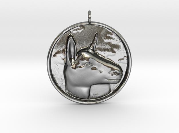 Alpine Doe Pendant in Polished Silver