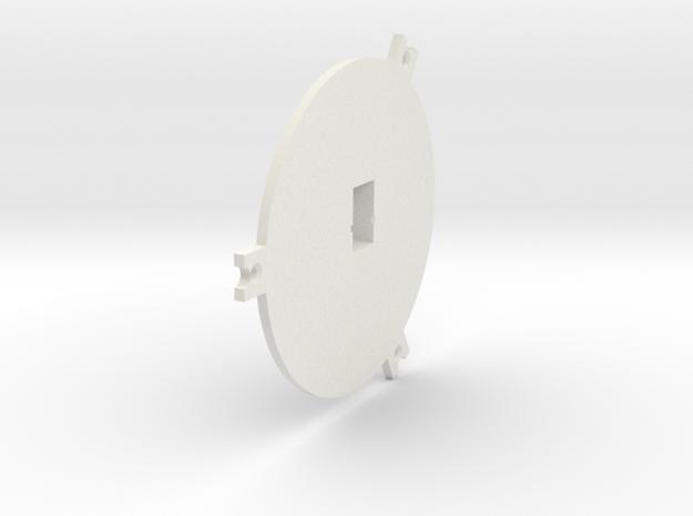 08.01.01.03.05 Elev Trim Back Plate Rev1 in White Natural Versatile Plastic