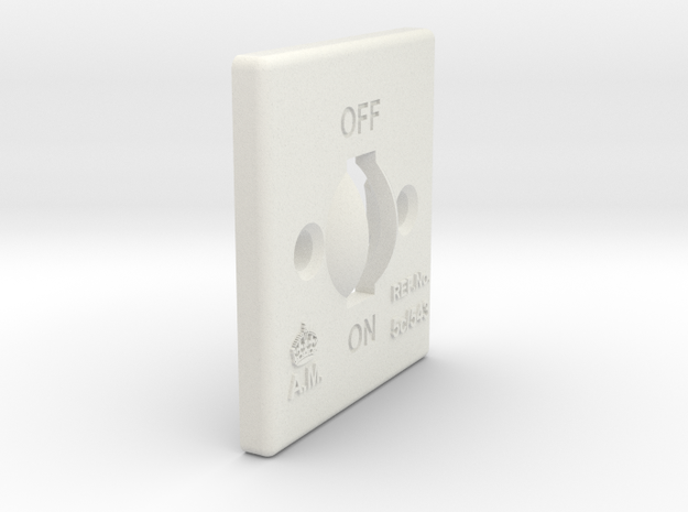 08.01.02.02.02.01 Switch Cover (2) in White Natural Versatile Plastic