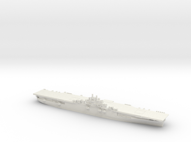 US Essex-Class Aircraft Carrier (v2) in White Natural Versatile Plastic: 1:1800