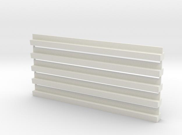 Profil-Halbzeug Set21 Waggon-Sitzbank - 1:120 TT in White Natural Versatile Plastic