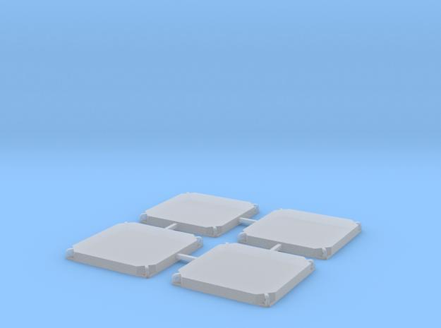 Baggermatte 120x120x12-4er in Smooth Fine Detail Plastic