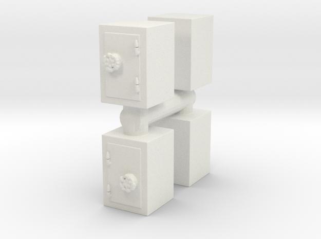 Safe (x4) 1/72 in White Natural Versatile Plastic