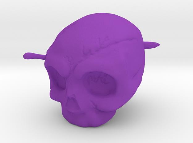 Memento Mori Toy in Purple Processed Versatile Plastic