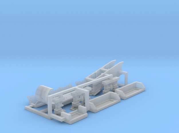 Falcon Ramp and Landing Gear, 1:350 in Smooth Fine Detail Plastic