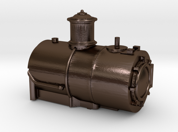 Fluted Dome Boiler for the HOn30 Coffee Creek Heav in Polished Bronze Steel