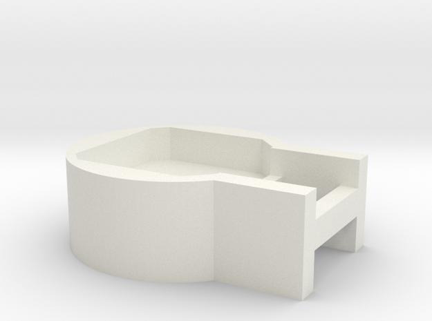 SK-CrystalPixelholder in White Natural Versatile Plastic