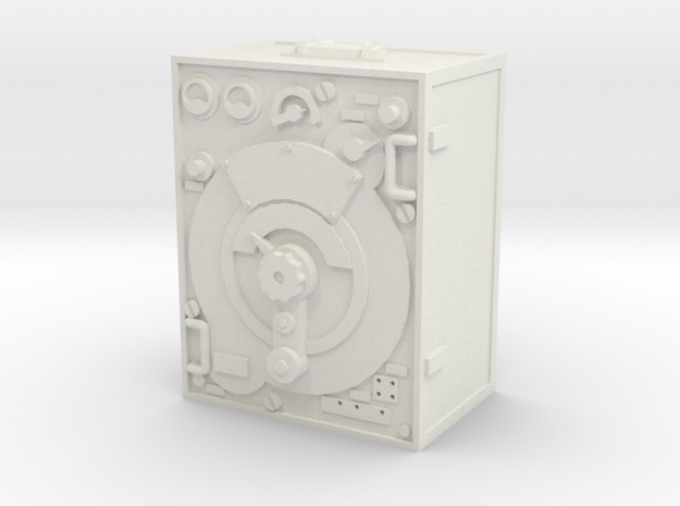 1:16 German 5 W.S. Radio Transmitter in White Natural Versatile Plastic