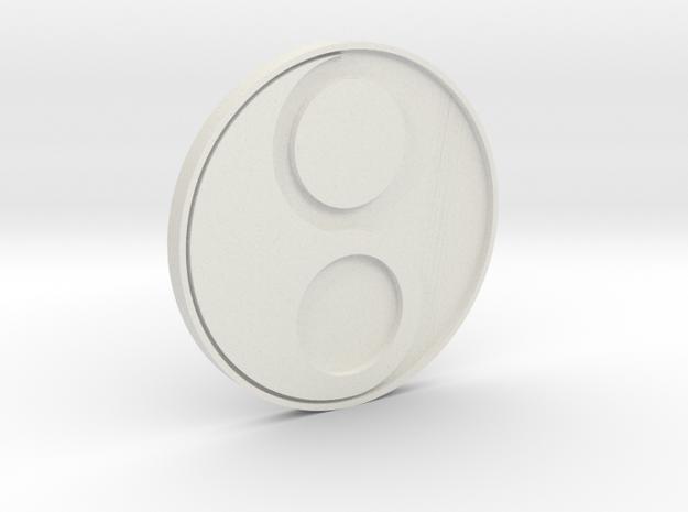 In-Yo/Yin-Yang Disc in White Natural Versatile Plastic