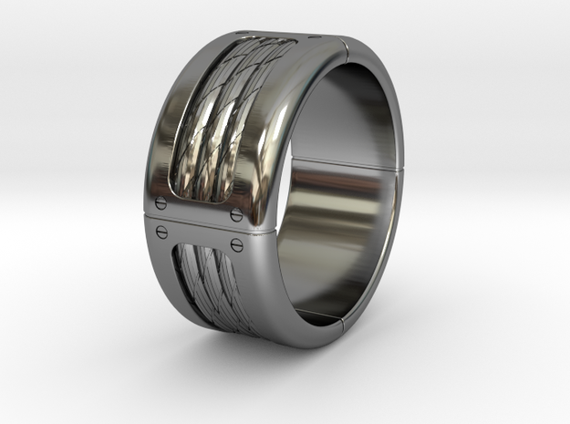 Rope Band Ring in Fine Detail Polished Silver